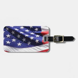 American-flag-Template Luggage Tag
