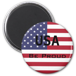 American Flag Template Magnet