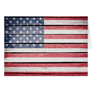 American Flag Thank You or Blank Note Card