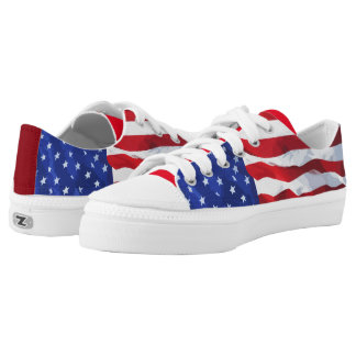 American Flag Theme Low-Top Sneakers
