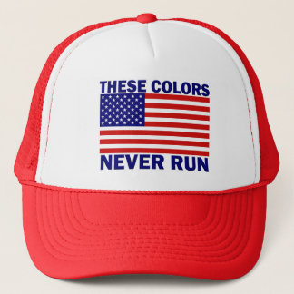 American Flag These Colors Never Run Hat