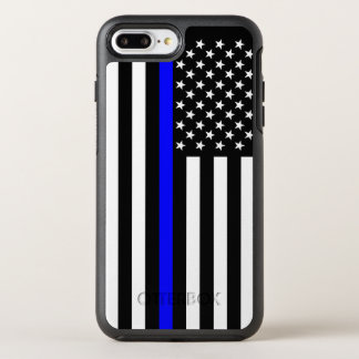 American Flag Thin Blue Line Symbol on OtterBox Symmetry iPhone 8 Plus/7 Plus Case
