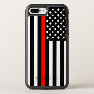American Flag Thin Red Line Symbol on a OtterBox Symmetry iPhone 8 Plus/7 Plus Case