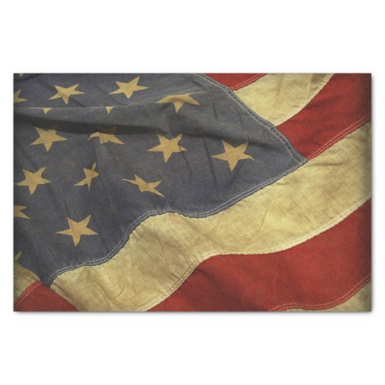 American Flag Tissue Paper