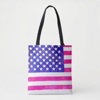 American flag totebag tote bag