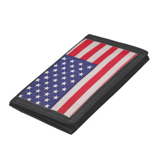 American Flag Tri-fold Wallets