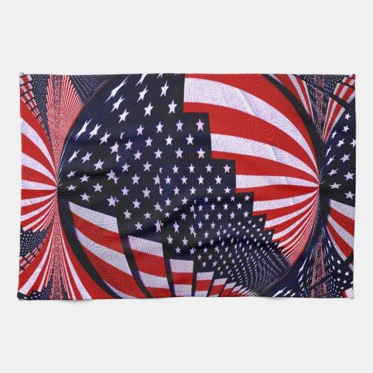 American Flag-Unity & Love_ Hand Towel