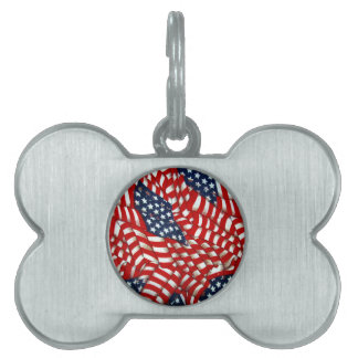 American Flag-Unity & Love_ Pet Name Tags