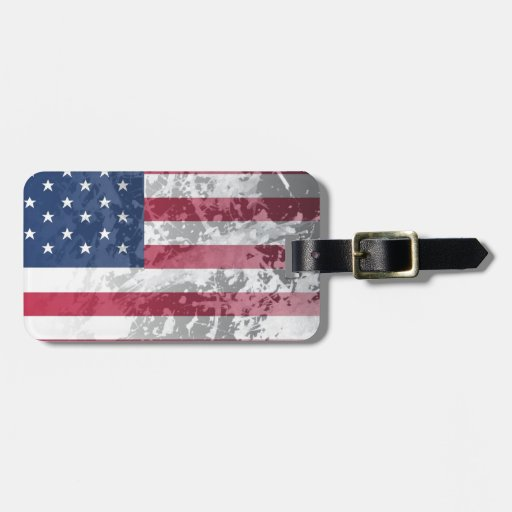 American Flag, US grunge patriotism (USA) Tags For Luggage