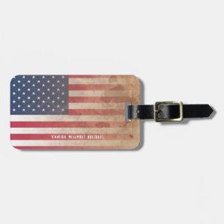 American Flag, US grunge patriotism (USA) Tag For Bags