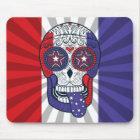 American Flag USA Colours Patriotic Sugar Skull Mouse Pad
