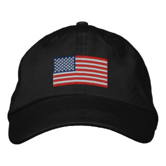 American Flag USA Large Embroidery Real Stars! Embroidered Hat