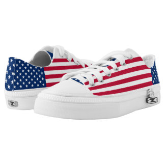 American Flag USA Pride Low-Top Sneakers