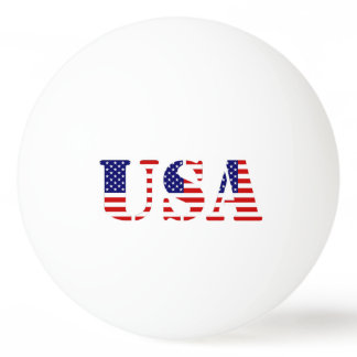 american flag - usa text ping pong ball