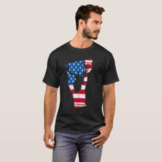 American Flag Vermont Deer Hunting Patriotic T-Shirt