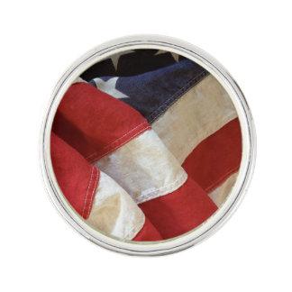 American flag view lapel pin