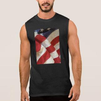 American flag view sleeveless t-shirt