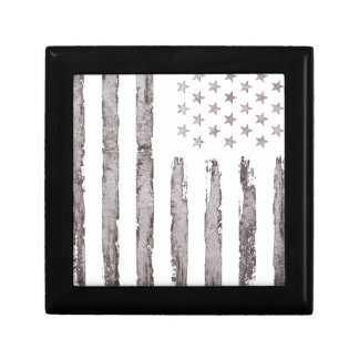 American flag Vintage Grey Gift Box