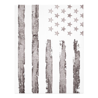 American flag Vintage Grey Letterhead