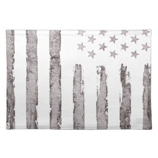 American flag Vintage Grey Placemat