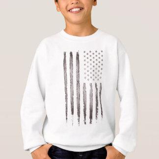American flag Vintage Grey Sweatshirt