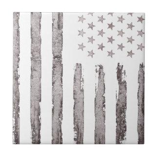 American flag Vintage Grey Tile