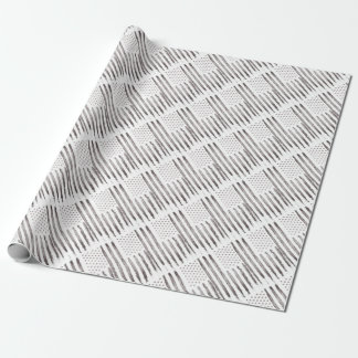 American flag Vintage Grey Wrapping Paper