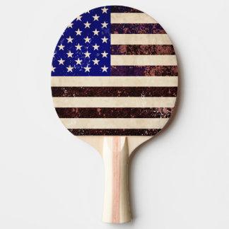 American Flag Vintage Grunge Ping Pong Paddle