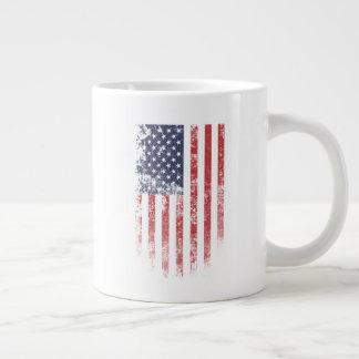 American Flag Vintage - Jumbo Mug