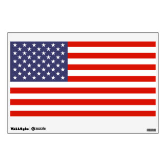 American flag wall art decal for 4th of July party
