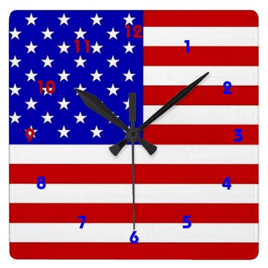 American Flag - Wall Clock