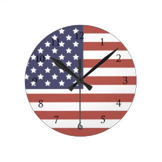 American Flag Wall Clocks