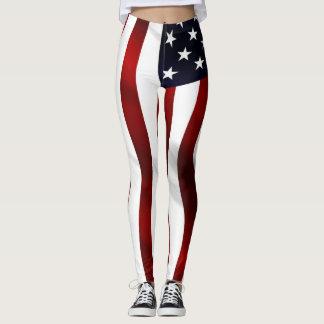 American Flag Wave Leggings