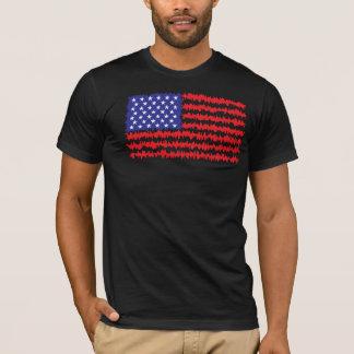 American Flag Waves T-Shirt