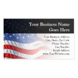 American Flag, Waving in Wind Pack Of Standard Business Cards
