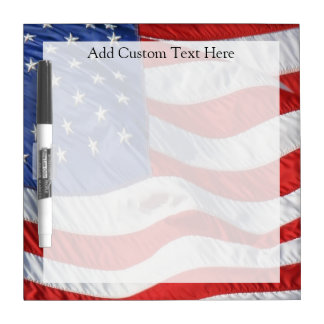 American Flag, Waving in Wind Dry-Erase Board