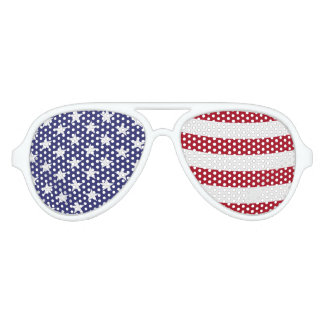 American Flag Waving Party Sunglasses