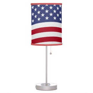 American Flag Waving Table Lamp
