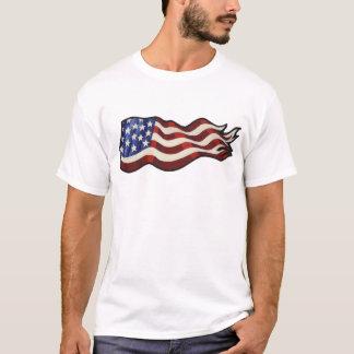 American Flag Waving Tank