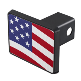 American Flag Waving Trailer Hitch Cover