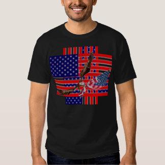 American Flag Weave Eagle Soaring T-shirt