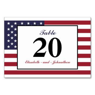 American Flag Wedding Card