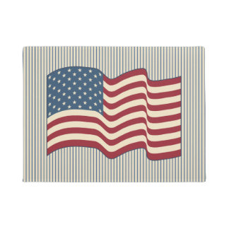 American Flag Welcome Mat Doormat Rug Gift