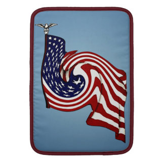 "American Flag Whirlwind Flow Macbook Air 13"" V MacBook Sleeve"