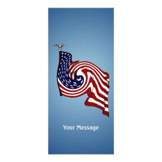 American Flag Whirlwind Flow Rack Card
