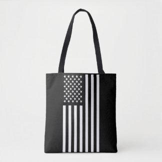 American Flag White Tote Bag