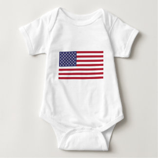 American flag, whole or detail view baby bodysuit