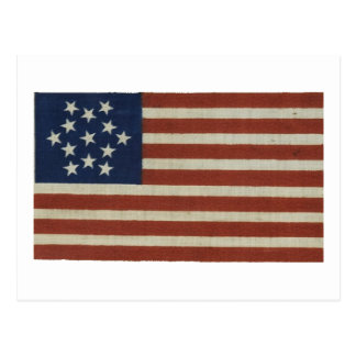American Flag with 13 Stars Postcard