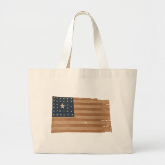 American Flag with 32 Stars Large Tote Bag
