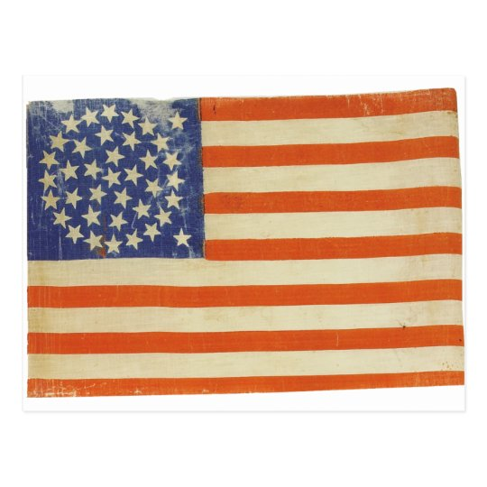American Flag with 38 Stars Postcard